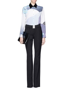 3.1 PHILLIP LIM Floral collage silk shirt