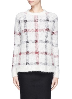 THEORY 'Innis P' check bouclé knit sweater