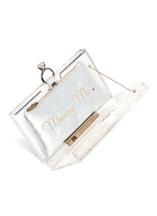 Detail View - Click To Enlarge - Charlotte Olympia - 'Marry Me' Pandora box clutch