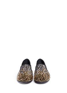 GIUSEPPE ZANOTTI DESIGN'Dalila' crystal suede loafers