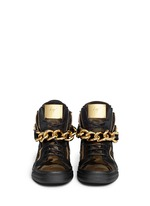 'London' camouflage pony hair sneakers
