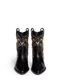 GIUSEPPE ZANOTTI DESIGN'Guns' hexagonal grommet stud boots
