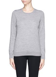 VINCETexture wool knit sweater