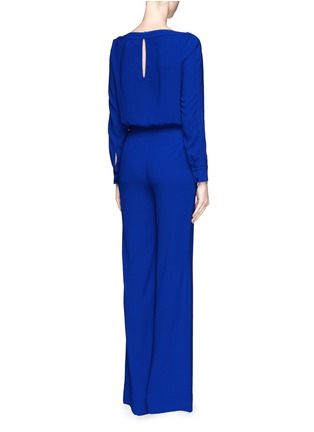 Back View - Click To Enlarge - DIANE VON FURSTENBERG - 'Cynthia' crepe jumpsuit