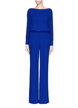 Main View - Click To Enlarge - DIANE VON FURSTENBERG - 'Cynthia' crepe jumpsuit