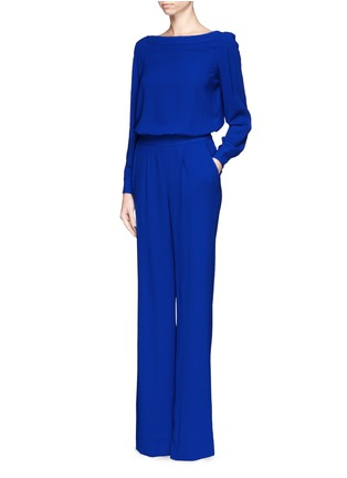 Figure View - Click To Enlarge - DIANE VON FURSTENBERG - 'Cynthia' crepe jumpsuit