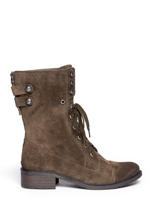 Main View - Click To Enlarge - Sam Edelman - 'Darwin' suede lace up boots
