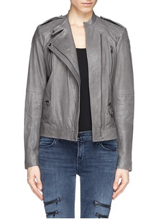 VINCE Quilted leather jacket