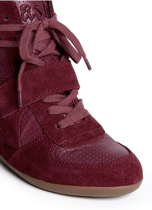 Detail View - Click To Enlarge - Ash - 'Bowie' suede and calf leather wedge sneakers