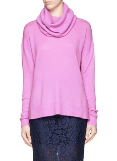 DIANE VON FURSTENBERG High-low cashmere cowl neck sweater