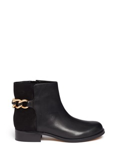 SAM EDELMAN'Chester' chain leather and suede boots