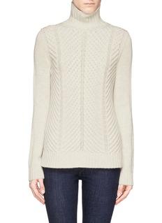 VINCEChevron knit yak-wool sweater