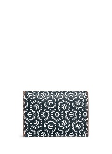 MischaHexagon print coated canvas envelope cardholder