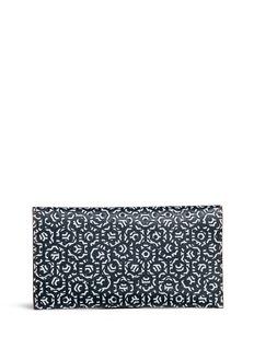 MischaHexagon print coated canvas travel wallet