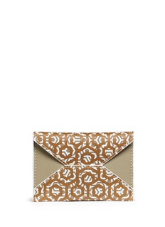 Mischa Hexagon print coated canvas envelope cardholder
