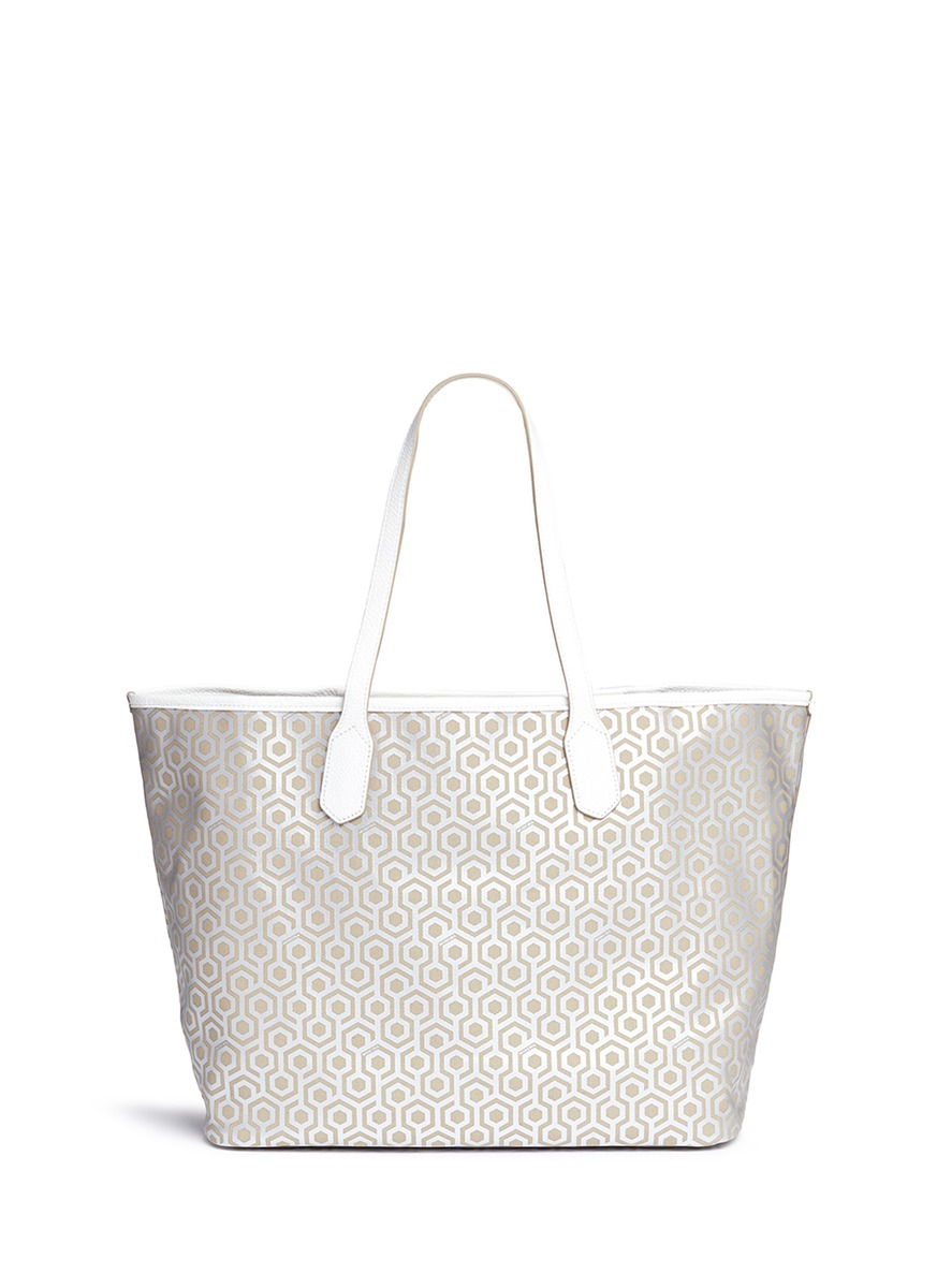 Jet Set Tote in classic hexagon print by Mischa
