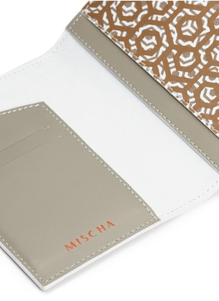 Detail View - Click To Enlarge - MISCHA - Leather passport holder