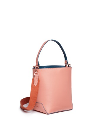 Detail View - Click To Enlarge - MISCHA - 'Monogram' leather bucket bag