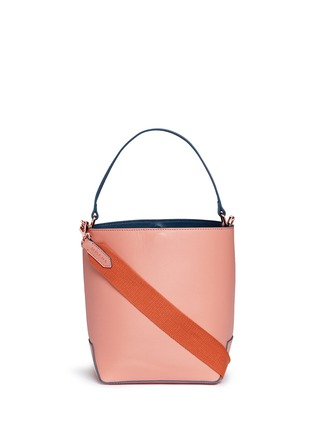 Main View - Click To Enlarge - MISCHA - 'Monogram' leather bucket bag
