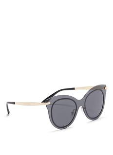 Dolce & GabbanaMetal temple cat eye sunglasses