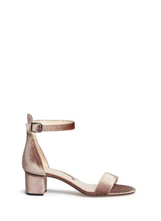 Pedder Red'Alex' ankle strap velvet sandals