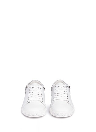 Front View - Click To Enlarge - Ash - 'Dazed' star stud calfskin leather sneakers