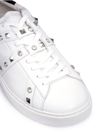 Detail View - Click To Enlarge - Ash - 'Play' strass stud leather sneakers