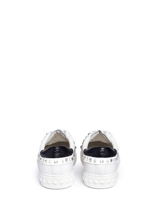 Back View - Click To Enlarge - Ash - 'Play' strass stud leather sneakers