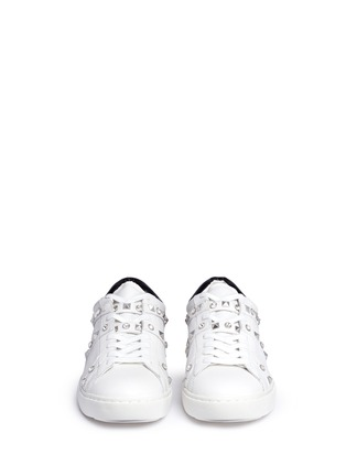Front View - Click To Enlarge - Ash - 'Play' strass stud leather sneakers