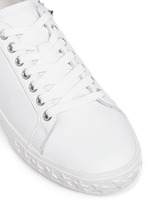 'Dazed' star stud calfskin leather sneakers