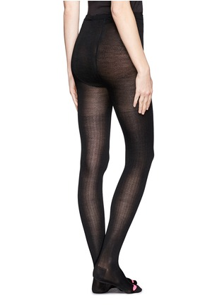 Back View - Click To Enlarge - HANSEL FROM BASEL - Silk rib tights