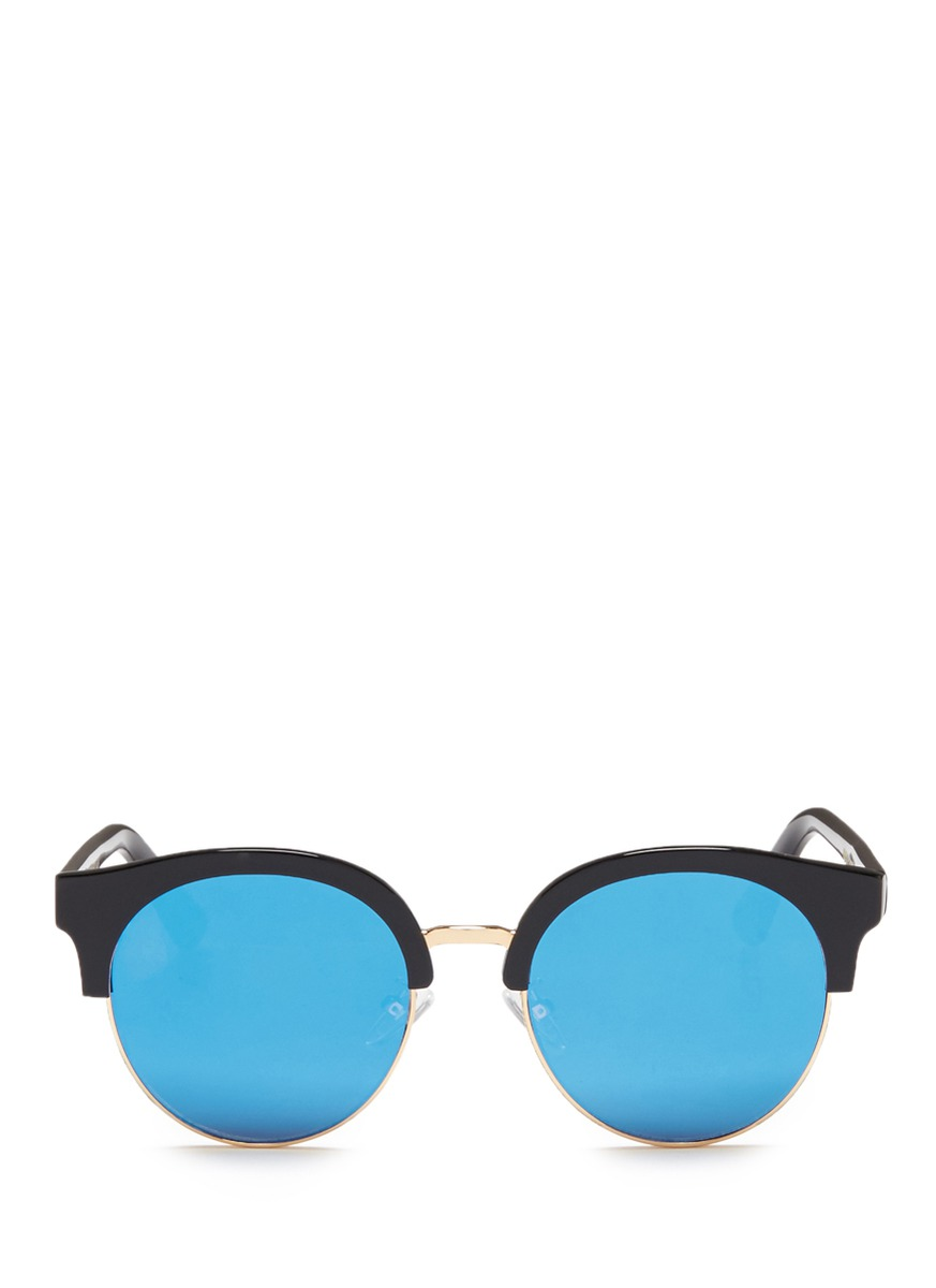 Eroica acetate round mirror sunglasses by Spektre