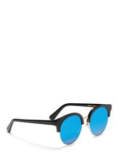 Spektre'Eroica' acetate round mirror sunglasses