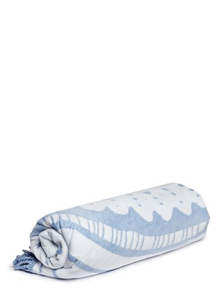 Main View - Click To Enlarge - The Beach People - 'The Wategos' fringed roundie towel