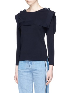 ChloéEngraved button sailor sweater