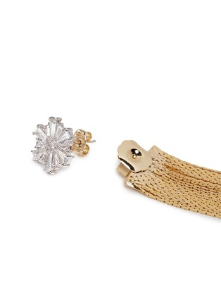 Detail View - Click To Enlarge - Venna - Glass crystal snowflake fringe drop jacket earrings