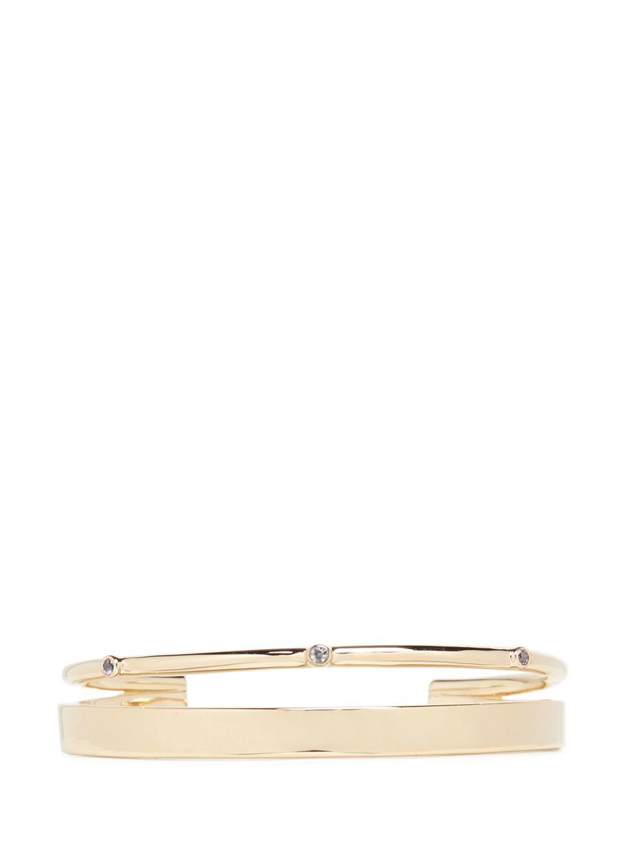 Maxwell topaz split cuff bracelet by Elizabeth and James