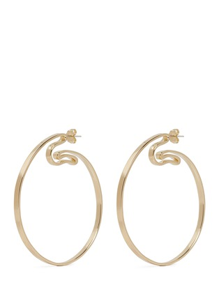 Main View - Click To Enlarge - Elizabeth and James - 'Jete' folded hoop earrings