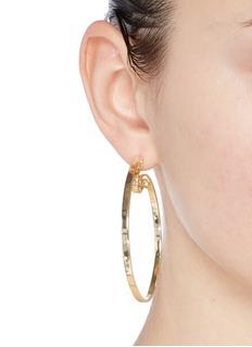 Elizabeth and James'Jete' folded hoop earrings