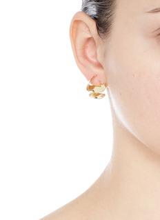 Elizabeth and James'Arp' folded ribbon earrings