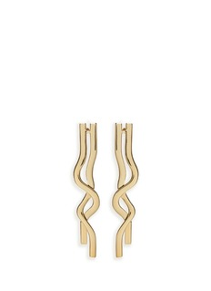 Elizabeth and James 'Sueno' gold plated wavy earrings