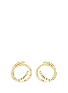 Elizabeth and James 'Connolly' gold plated hoop earrings