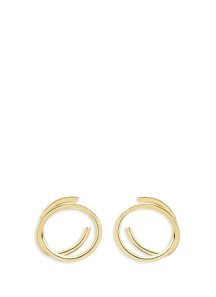 Connolly gold plated hoop earrings by Elizabeth and James