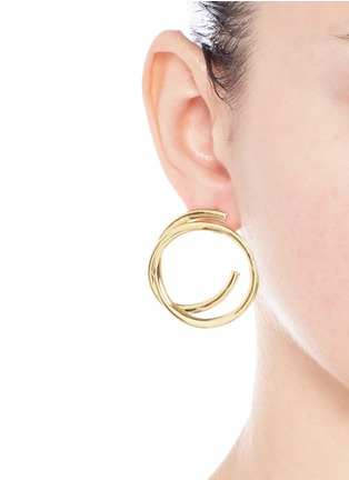 Figure View - Click To Enlarge - Elizabeth and James - 'Connolly' gold plated hoop earrings