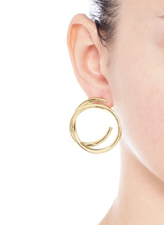 Elizabeth and James'Connolly' gold plated hoop earrings