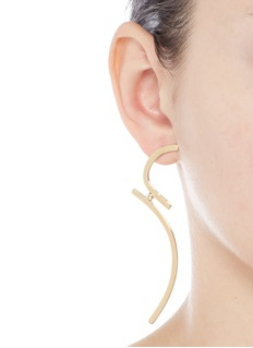 Elizabeth and James'Amber' topaz gold plated earrings