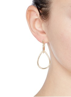 Elizabeth and James'Cannon' teardrop hoop earrings