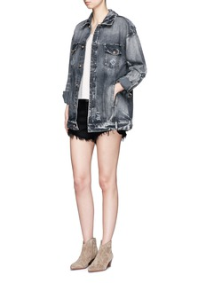Tortoise 'Chitra' distressed cotton denim jacket