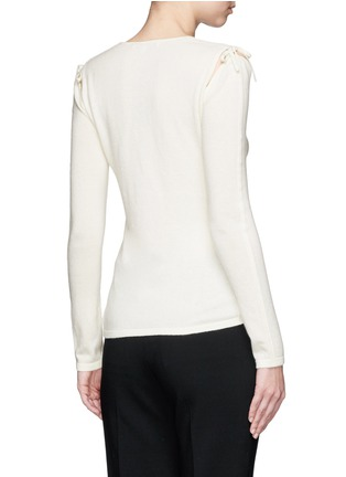 Back View - Click To Enlarge - Elizabeth and James - 'Ryan' cutout shoulder sweater