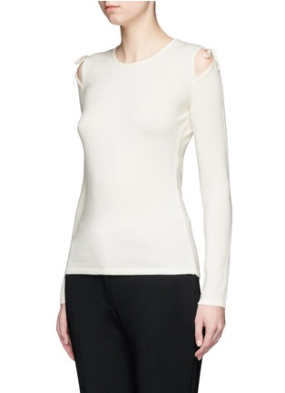 Front View - Click To Enlarge - Elizabeth and James - 'Ryan' cutout shoulder sweater